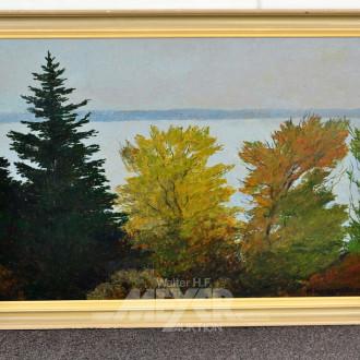Gemälde, ''Waldrand am See''
