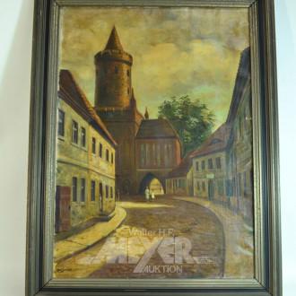 Gemälde, ''Städtemotiv, Kammin, Pom.''