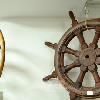2 Schiffs Steuerräder