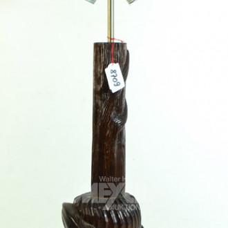 Lampenfuß, Holz beschnitzt