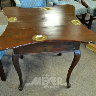 Spieltisch, rechteckig, mit Messing-