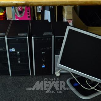 4 Desktop-Rechner, ohne Festplatte,