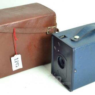 Fotokamera/Agfabox, AGFA, mit Etui