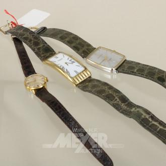 3 Damen-Armbanduhren, ''DUGENA'', ''MAURICE