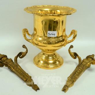 Sektkühler/Vase und 2 Wandarme,