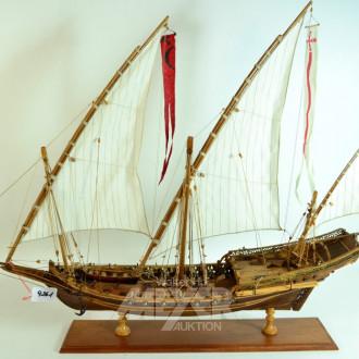 Modellschiff ''3-Master'', Holz