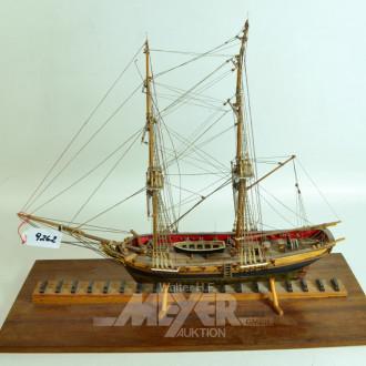 Modellschiff ''2-Master'', Holz