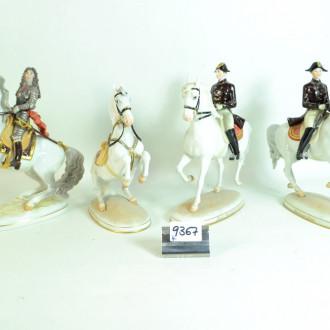 4 Porz.-Figuren, WIEN, ''Reiter zu Pferd''