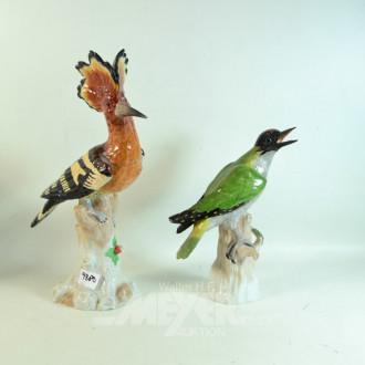 2 Porz.- Figuren, DRESDEN, ''Vögel''