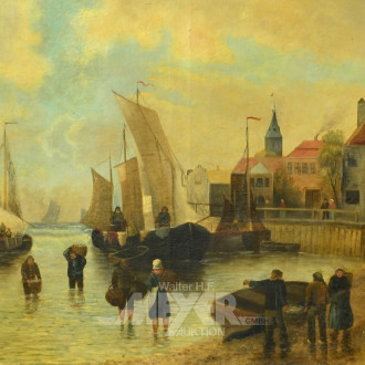Gemälde ''Heimkehrende Fischer''