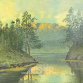 Gemälde ''Fjordansicht''