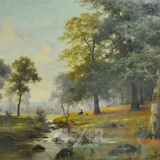 Gemälde ''Romantische Landschaft mit