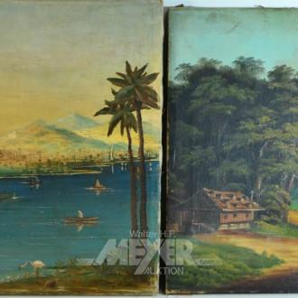 2 Gemälde, ''Landschaften''