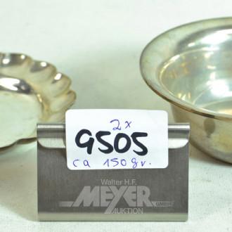 2 versch. Schalen, 925er Silber
