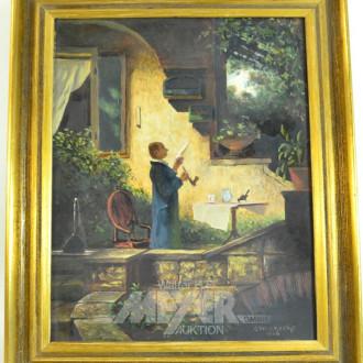 Gemälde ''Der Lesende im Garten''