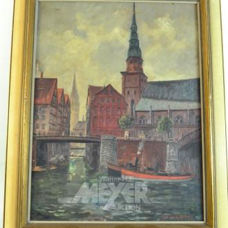 Gemälde ''Hamburger Fleetansicht''