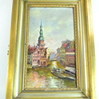 Gemälde ''Fleetansicht mit Michel''
