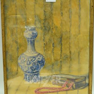Aquarell ''Stillleben mit Vase''