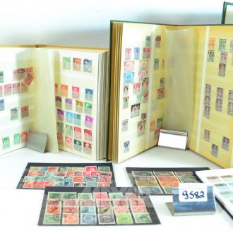 4 Alben mit Briefmarken