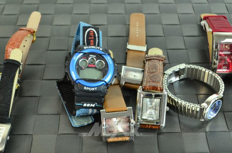 10 versch. Armbanduhren