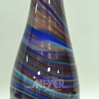 gr. schwere Glasvase, farbig,