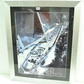 2 Bilder ''Segelboote'', 58 x 73cm,
