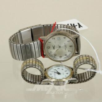 2 Armbanduhren, MC und EXCELLANC