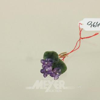 Blütenbrosche, 585er Gelbgold,