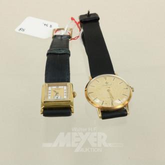 2 Armbanduhren CORTEBERT und TISSOT