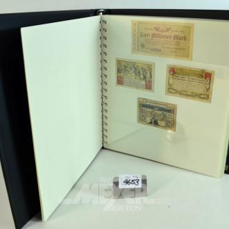 4 Alben mit alten Banknoten