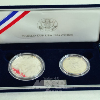 2 Silber-Medaillen ''World Cup USA 1994''