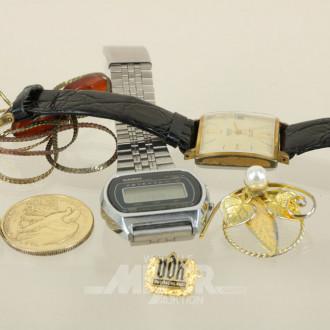 2 Armbanduhren und Modeschmuck