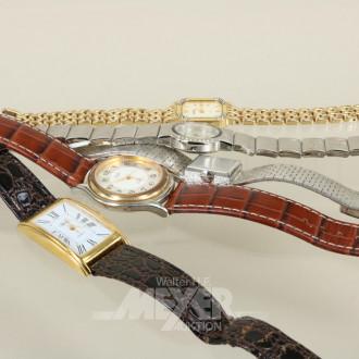 5 Armbanduhren, Damen und Herren