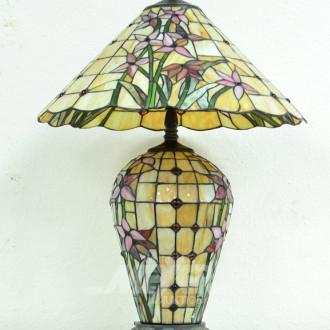 Tischlampe im Tiffanystil ''Blumenmotiv''
