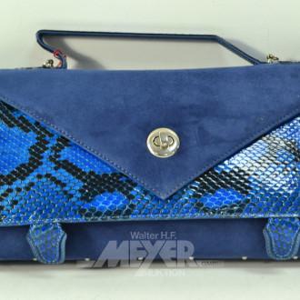 Kuvert-Tasche, Schlangenleder/Velour,