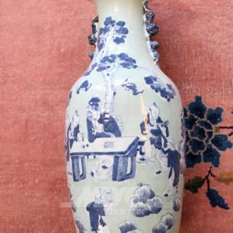 Steingut-Bodenvase, China, vermutl.