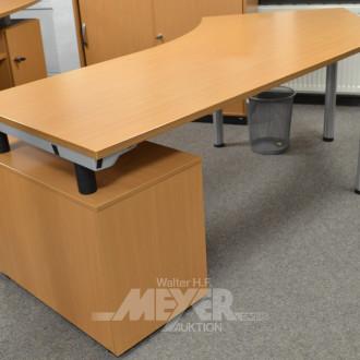 Schreibtisch, Kunststoffdekor,