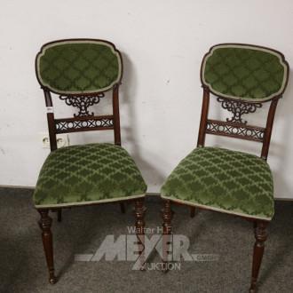 2 engl. Stühle, Mahagoni,