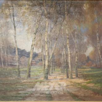 Gemälde ''Waldlichtung mit Birken''