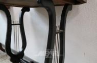 Nähtischchen mit Harfen-Füßen, Mahagoni,
