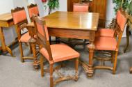Esstisch, ausziehbar sowie 6 Stühle