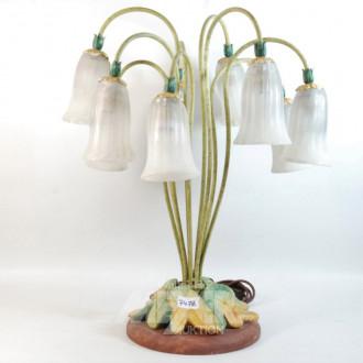 Tischlampe, 9-flammig,