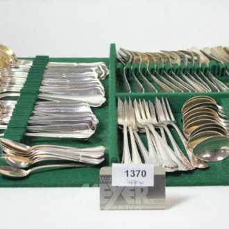 Besteck 800er Silber, für 12 Personen