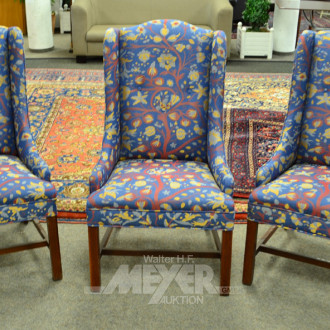 3 Ohren-Sessel mit Stoffbezug: