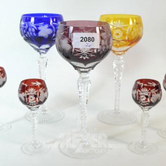 7 div. Römergläser: 3 x Wein, 4 x Likör