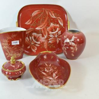 5 Teile Porzellan, HUTSCHENREUTHER: Vasen,