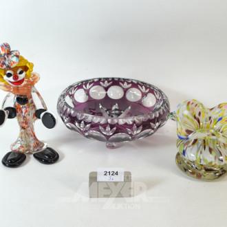 Kristall-Schale, 1 Glasvase