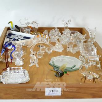 Posten Glas- und Kristallfiguren