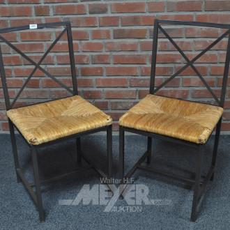 2 Stühle, Metallgestell,