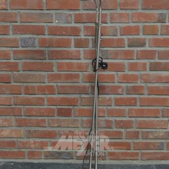 Stehlampe, 2-flammig, Edelstahloptik,